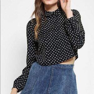 Cropped Zip Back Blouse